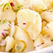 Aardappelsalade zonder mayonaise