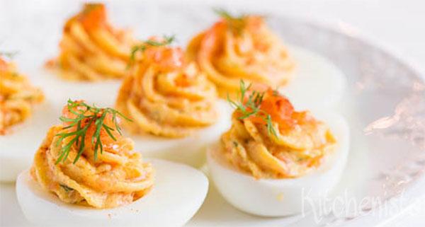 gevulde eieren creme fraiche
