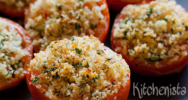 Gevulde tomaatjes met kruiden