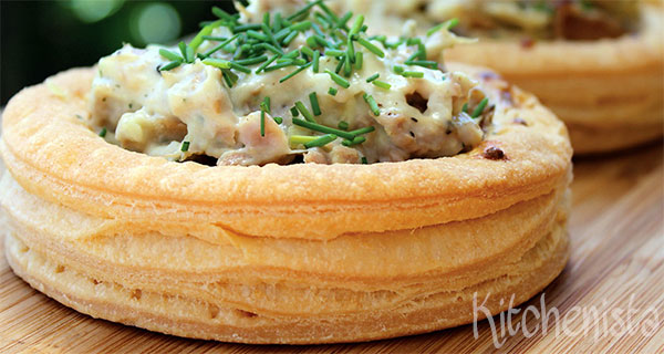 Zelfgemaakte pasteibakjes voor ragout