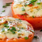 Ovengebakken tomaten met kaas