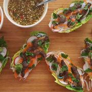 Vietnamese slaschuitjes met biefstuk