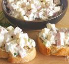 Ham-kaassalade voor op een toastje of brood