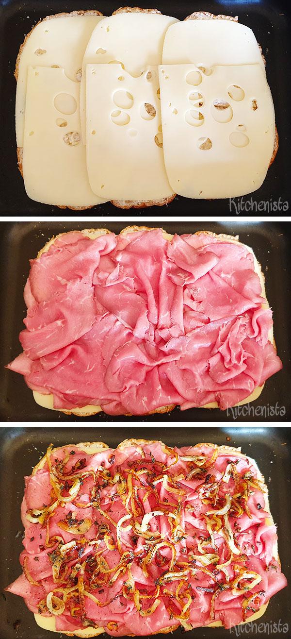 rosbief en kaas broodjes met jus