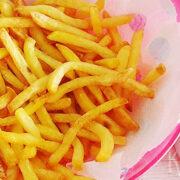 Zelfgemaakte knapperige Franse frietjes