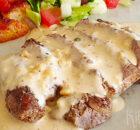 Steak au poivre – biefstuk met peperroomsaus