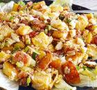 Caesar aardappelsalade van geroosterde aardappels
