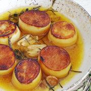 Fondant aardappels – crispy van buiten, zacht van binnen