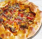 Galette met 2 soorten tomaten, spek en kaas