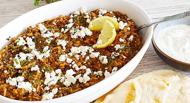 Spanakorizo – Griekse rijst met spinazie en tomaat